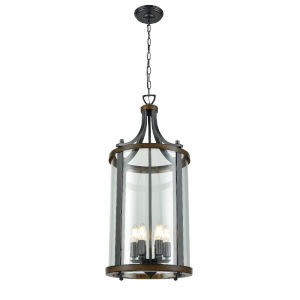 Niagara Graphite and Ironwood Six-Light Pendant