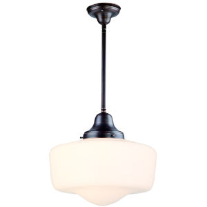 Schoolhouse Oil Rubbed Bronze 14-Inch One-Light Pendant