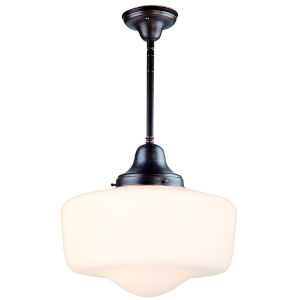Schoolhouse Oil Rubbed Bronze One-Light Pendant