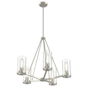 Erin Brushed Nickel Five-Light Chandelier