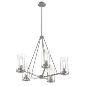 Erin Chrome Five-Light Chandelier