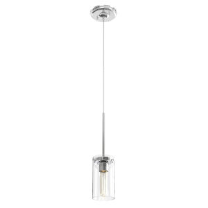 Erin Chrome One-Light Mini Pendant with Clear Glass