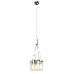 Erin Brushed Nickel Six-Light Pendant