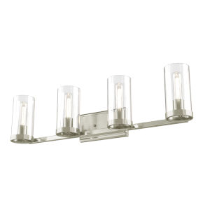 Erin Brushed Nickel ADA Four-Light Bath Vanity