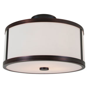 Uptown Oil Rubbed Bronze Two-Light Semi Flush Mount