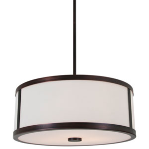 Uptown Oil Rubbed Bronze 16-Inch Three-Light Pendant