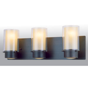 Essex Oil Rubbed Bronze 21.5-Inch Three-Light Vanity with Opal Glass
