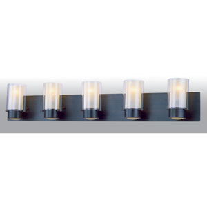 Essex Buffed Nickel Five-Light Vanity
