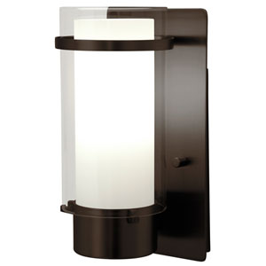 Essex Oil Rubbed Bronze 9.5-Inch One-Light Wall Sconce with Opal Glass