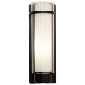 Essex Oil Rubbed Bronze 14-Inch One-Light Wall Sconce with Opal Glass