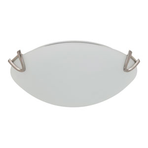 Solstice Satin Nickel Two-Light Flush Mount