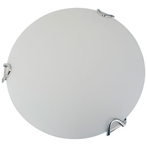 Solstice Chrome Three-Light Flush Mount