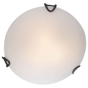 Solstice Graphite Three-Light Flush Mount