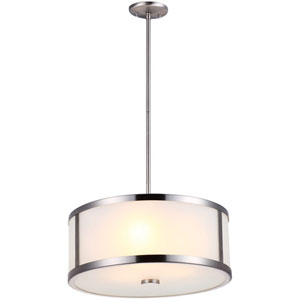 Uptown Oil Rubbed Bronze 18.5-Inch Three-Light Pendant