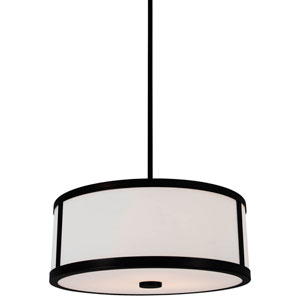 Uptown Graphite 16-Inch Three-Light Pendant