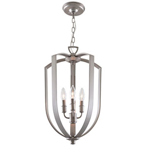 Castille Buffed Nickel 13-Inch Four-Light Foyer Pendant