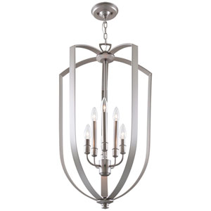 Castille Buffed Nickel Six-Light Foyer Pendant