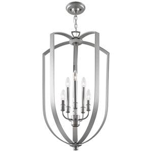 Castille Chrome Six-Light Foyer Pendant