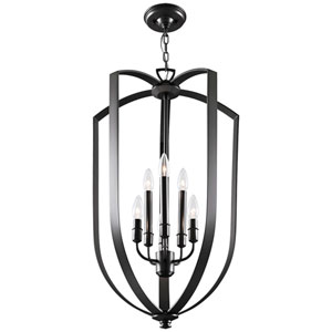 Castille Ebony Six-Light Foyer Pendant