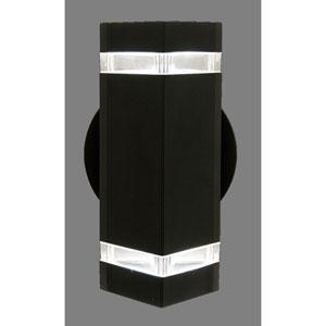 Summerside Matte Black 9-Inch One-Light Outdoor Sconce