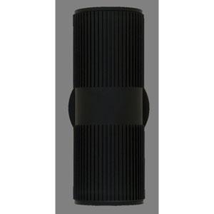 Summerside Matte Black 12-Inch Two-Light Outdoor Sconce 35W