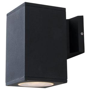 Summerside Matte Black 8-Inch One-Light Cubed Outdoor Sconce