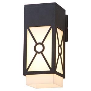 Summerside Matte Black 11.5-Inch One-Light Outdoor Sconce