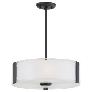 Zurich Graphite 16-Inch Three-Light Pendant