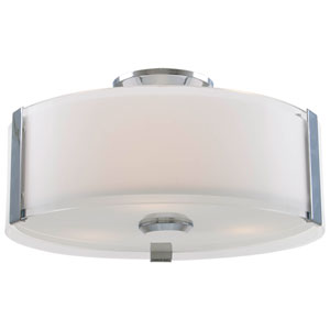 Zurich Chrome Three-Light Flush Mount