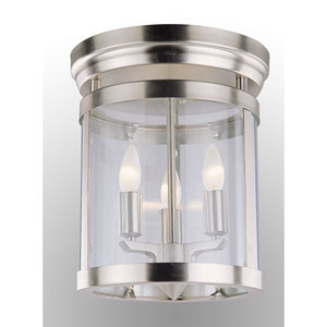 Niagara Chrome Three-Light Flush Mount