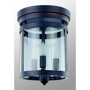 Niagara Oil Rubbed Bronze Three-Light Flush Mount