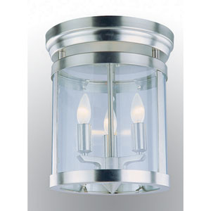 Niagara Satin Nickel Three-Light Flush Mount