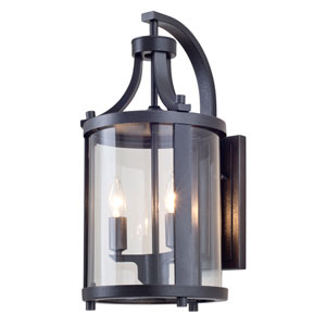 Niagara Outdoor Hammered Black Two-Light Outdoor Sconce