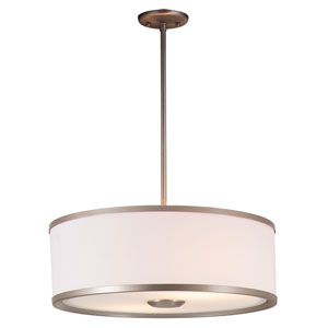 Milan Buffed Nickel 22.5-Inch Three-Light Pendant