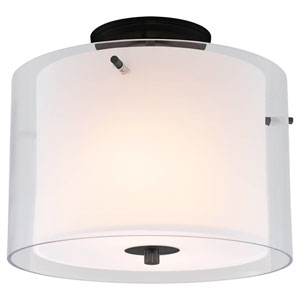 Essex Buffed Nickel Two-Light Semi Flush Mount