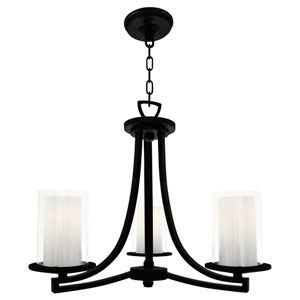 Essex Buffed Nickel Three-Light Chandelier
