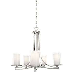 Essex Buffed Nickel Five-Light Chandelier
