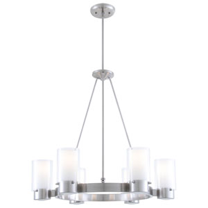 Essex Chrome 27-Inch Six-Light Chandelier