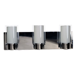 Essex Chrome Three-Light Vanity