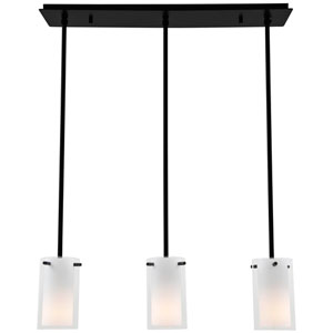 Essex Graphite Three-Light Mini Pendant on Adjustable Canopy