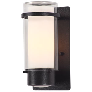 Essex Hammered Black 9.5-Inch One-Light Outdoor Sconce