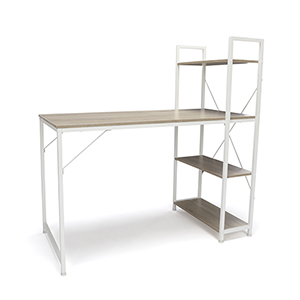 Natural Combination Desk 4 Shelf Unit