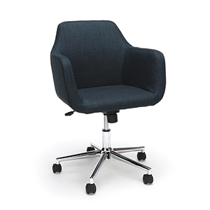 Blue Upholstered Home Desk Chair
