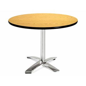 42-Inch Folding Multi-Purpose Round Oak Table