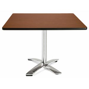 42-Inch Square Folding Multi-Purpose Mahogany Table