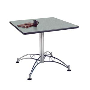 Gray Nebula 36-Inch Square Office Table