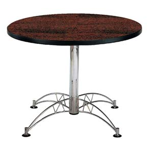 Mahogany 42-Inch Round Office Table