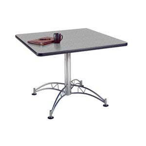 Gray Nebula 42-Inch Square Office Table