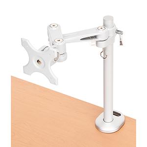 Silver Single Monitor Desk Mount Arm (Bolt Attachment)