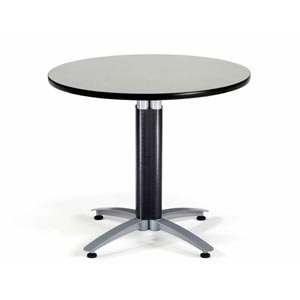 36-Inch Multi-Purpose Round Gray Nebula Table with Metal Base